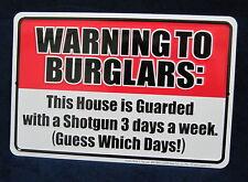 Warning Shotgun *US MADE* Embossed Metal Tin Trespass Warning Sign - Garage Shop