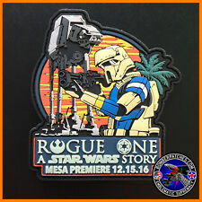 STAR WARS ROGUE ONE MESA PREMIERE PVC LIMITED EDITION PATCH AT-ACT SHORETROOPER