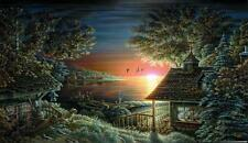 SUNSET RETREAT by Terry Redlin w/sketch