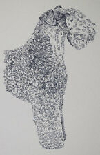 Kerry Blue Terrier Dog Art Portrait Print #34 Kline adds your dogs name free.