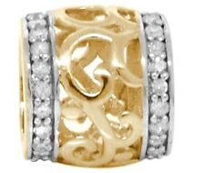 Maia 44 Diamond 9K 9ct Solid Gold Bead Charm FIT EURO BRACELETS