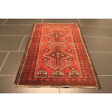 Alt Handgeknüpfter Perser Orient Teppich Old Afghan Belutsch Rug Carpet 106x67cm