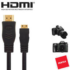 Pentax 645D, GXR, K-01, K-5IIs Camera HDMI Mini TV Monitor 5m Long Lead Cable