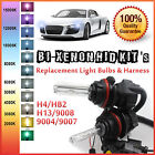 Two Xentec Bi-xenon HID Kit 's Replacement Light Bulbs + Relay Harness H4 9007