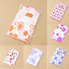 100pcs Wholesale Lot Pretty Mixed Pattern Plastic Gift Bag Shopping Bag HU