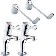 "DEVA Lever Sink Taps With 6"" Long Handles (Pair). DLV103"