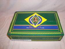 CAO BRAZILIA BOX PRESS W/TRAYS GREEN CIGAR BOX