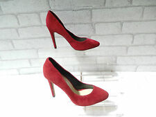 ALDO SEBEC Ladies Red Suede Pointed Toe Court Shoes UK 4.5 EU 37.5 0NLY £25