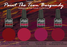 "BRAND NEW ""PAINT THE TOWN BURGUNDY"" - 4 BEAUTIFUL GELEGANCE GEL POLISH COLORS"