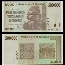 Zimbabwe 500,000 (500000) Dollars,2008 Series,P-76, Currency Money Uncirculated