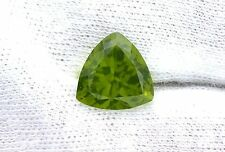 5.05 Carat 11mm Trilliant Trillion Apple Green Peridot Gem Stone Genstone LPF6