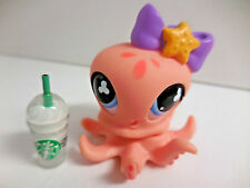 Littlest Pet Shop LPS #513 Peach Octapus Starbucks Year 2007