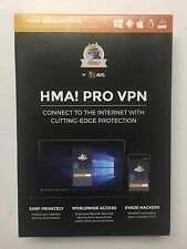NEW SEALED HMA! PRO VPN by AVG 1 Year Subscription Surf Privately Evade Hackers