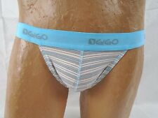 Gigo Men's Street Blue Striped Jockstrap Size Large Item #2351IM