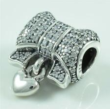 Genuine Authentic Pandora Sterling Silver Heart and Bow Charm 791776CZ
