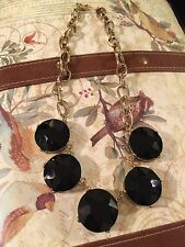 Express Cup Setting Black Crystal Necklace