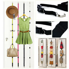 OVER THE DOOR COAT HANGER CLOTHES Organizer Hat Bag Clothes Straps Hanger Rack