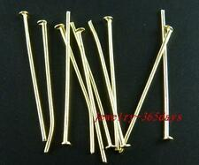 200 Gold/Silver/Copper/Bronze etc. Head Pins & Needles 20-80mm H59-H97