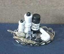 Bathroom Hair Products On Tray Ladies Dollhouse Miniatures 1/12 Scale