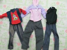 lot barbie doll clothes dresses accessories 3 Ken doll outfits Skate Board 5 NEW
