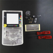 GBC Nintendo Game Boy Color Replacement Housing Shell Screen Clear Pikachu USA!