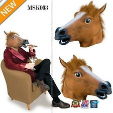 RUBBER HORSE HEAD MASK PANTO FANCY PARTY COSPLAY HALLOWEEN ADULT COSTUME MSK003