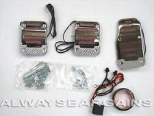 Megan Chrome Neon light Pedals Toyota Camry 00 - 10 Red MT