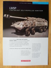 BAE SYSTEMS Lightweight Self-Propelled Howitzer military brochure c2007