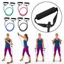 Stretch Resistance Exercise Workout Tube Heavy Fitness Band Yoga Physio Crossfit