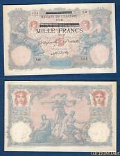 Algérie - 1000 Francs 6-7-1892 V.46 534 ssur 100 francs Bleu et Rose Qualité SUP