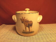 "Better Homes & Gardens Moose Design Stoneware Bean Pot 7 1/4"" Imperfect"