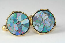 VTG GENUINE INLAID OPAL MOSAIC CUFFLINKS
