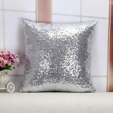 Vogue Glitter Sequins Throw Silver Pillows Case Decor Square DIY Cushion Cover
