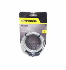 712 KRYPTONITE KEEPER BICYCLE BIKE CABLE COMBO LOCK 7mm X 4' NEW