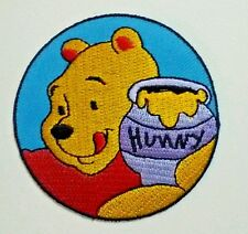 "Winnie the Pooh ""POOH"" huney Disney Cartoon Kid Embroideried Patch Sew Iron On"