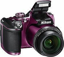 Nikon Coolpix B500 (PURPLE) 16MP Digital Camera with 40x Optical Zoom SMP1