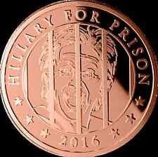 """2016 PRESIDENT TRUMP SATIRICAL COPPER COIN 1oz COLLECTIBLE LARGE AND HEAVY"