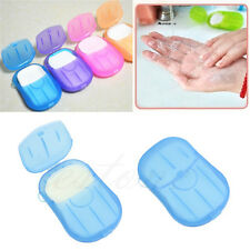 Hot Easy Washing Hand Bath Travel Scented Slice Sheets Foaming Box Paper Soap Az