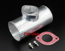 "3"" Type R RS RZ Turbo BOV Blow Off Adapter IC POLISHED Aluminum Charge Pipe"