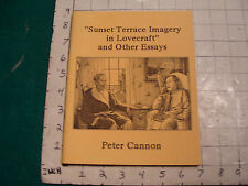 UNREAD: Sunset Terrace Imagery in Lovecraft NECRONOMICON PRESS first edition '90