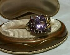 Chuck Clemency NYCII 18k yellow gold/Sterling Silver Mookaite Amethyst ring