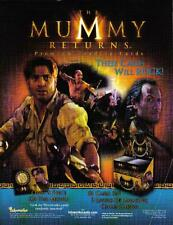 THE MUMMY RETURNS TRADING CARDS SELL SHEET