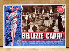 BELLEZZE A CAPRI fotobusta poster Alberto Sorrentino Ave Ninchi Miss 1951