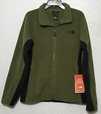 Mens The north face Khumbu 2 fleece full zip jacket Burni Olive Green/Black NWT
