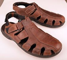 Earth Spirit Mens Fisherman Simon Brown Genuine Leather Sandals  US 14 EU 48.5