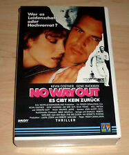 VHS - No Way Out - Kevin Costner - Gene Hackman - Videokassette