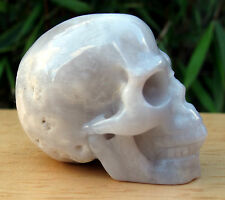 AMAZING NATURAL HAND CARVED AGATE CRYSTAL SKULL 41g
