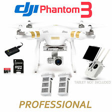 DJI Phantom 3 Professional RTF QuadCopter W/4K Camera Extra Battery & DELUXE KIT