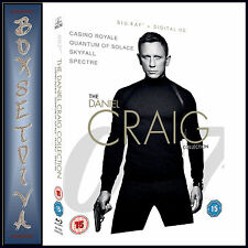 JAMES BOND - THE DANIEL CRAIG COLLECTION - 4 PACK *BRAND NEW BLURAY BOXSET **