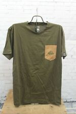 New Rome Mens Pocket Mountains S/S T-Shirt Tee Large Dark Olive